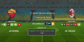 Foci Tippek: AS Roma - AC Milan 2021. február 28. - Serie A
