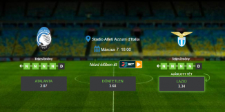 Foci Tippek: Atalanta – Lazio 2020.03.07. - Serie A
