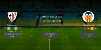 Foci Tippek: Athletic Bilbao vs Valencia 2019. szeptember 28. - La Liga