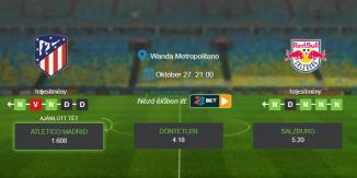 Foci Tippek: Atletico Madrid - Salzburg 2020. október 27. - Champions League