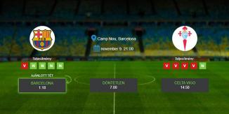 Foci Tippek: Barcelona vs Celta Vigo 2019. november 09. - La Liga