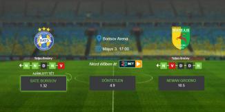 Foci Tippek: BATE Borisov – Neman Grodno 2020. május 03. - Vysshaya Liga