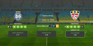 Foci Tippek: BATE - Soligorsk 2020. június 14. - Vysshaya Liga