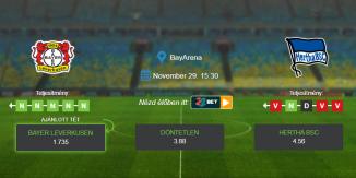 Foci Tippek: Bayer Leverkusen - Hertha BSC 2020. november 29. - Bundesliga