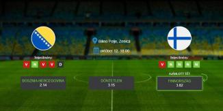 Foci Tippek: Bosznia-Hercegovina – Finnország 2019. október 12. - Európa-bajnokság selejtező