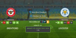Foci Tippek: Brentford - Leicester 2021. október 24. - Premier League