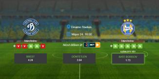 Foci Tippek: Brest – BATE Borisov 2020. május 24. - Fehérorosz Kupa