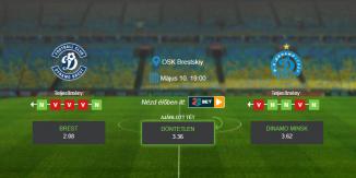 Foci Tippek: Brest – Dinamo Minsk 2020. május 10. - Vysshaya Liga
