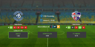 Foci Tippek: Brest - FC Minsk 2020. június 6. - Vysshaya Liga