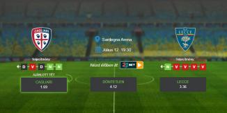 Foci Tippek: Cagliari - Lecce 2020. július 12. - Serie A