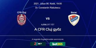 Foci Tippek: CFR Cluj - Borac Banja Luka 2021. július 6. - Bajnokok Ligája