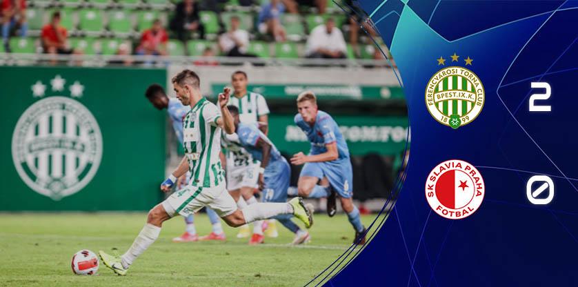Nyert a Ferencváros hazai pályán a Slavia Praha ellen
