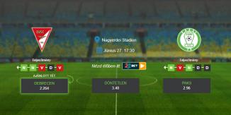Foci Tippek: Debrecen - Paks 2020. június 27. - NB1