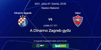 Foci Tippek: Dinamo Zagreb - Valur 2021. július 7. - Bajnokok Ligája