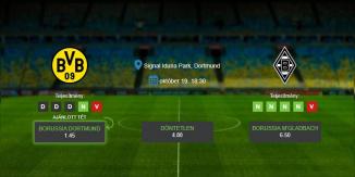 Foci Tippek: Dortmund vs M'gladbach 2019. október 19. - Bundesliga