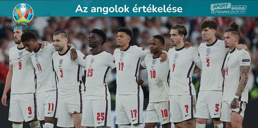 Az angol játékosok értékelése