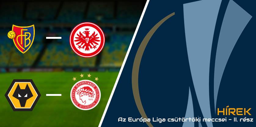 Az Európa Liga csütörtöki meccsei 2020.08. - II. rész
