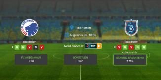 Foci Tippek: FC Köbenhavn - Istanbul Basaksehir 2020. augusztus 5. - Europa League