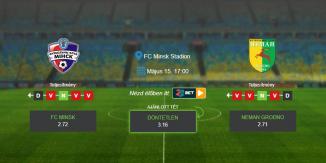 Foci Tippek: FC Minsk – Neman Grodno 2020. május 15. - Vysshaya Liga