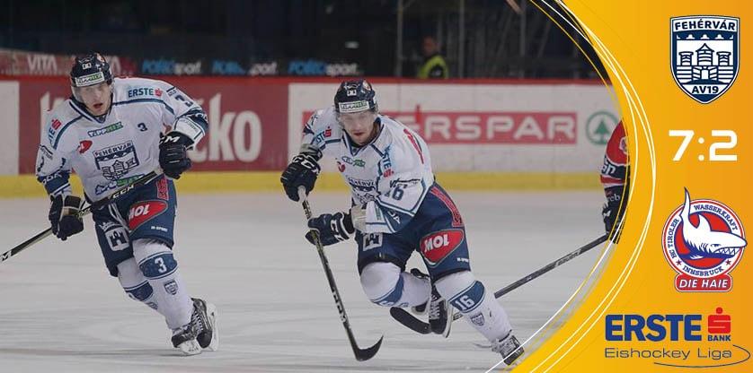 Fehérvár AV19 7-2-re nyert az Innsbruck