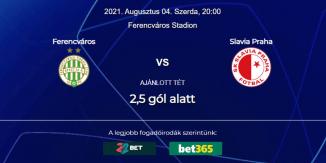 Foci Tippek: Ferencváros - Slavia Praha 2021. augusztus 4. - Bajnokok Ligája