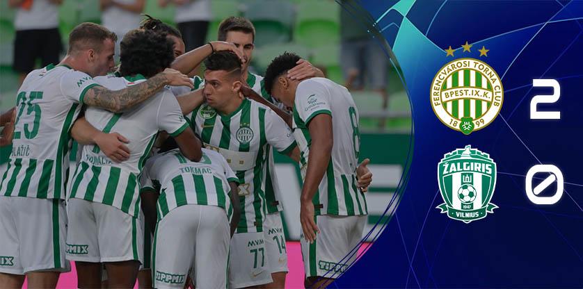 Könnyedén nyerte a Zalgiris elleni meccset a Ferencváros