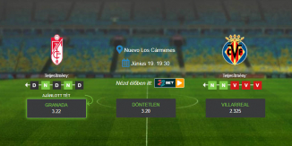 Foci Tippek: Granada - Villarreal 2020. június 19. - La Liga