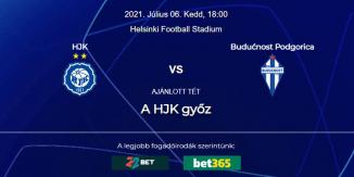 Foci Tippek: HJK Helsinki - Buducnost Podgorica 2021. július 6. - Bajnokok Ligája
