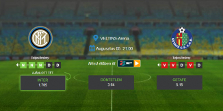 Foci Tippek: Inter - Getafe 2020. augusztus 5. - Europa League