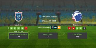 Foci Tippek: Istanbul Basaksehir – FC Köbenhavn 2020. március 12. - Európa Liga