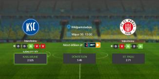 Foci Tippek: Karlsruhe - St. Pauli 2020. május 30. - Bundesliga 2