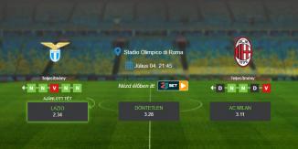 Foci Tippek: Lazio - AC Milan 2020. július 4. - Serie A