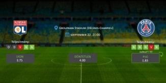 Foci Tippek: Lyon vs PSG 2019. szeptember 22. - Ligue 1