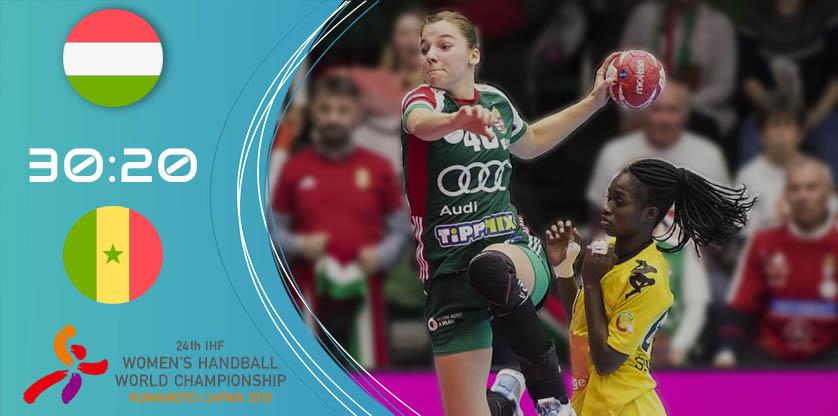 Magyar női kézilabda-válogatott vs Szenegál - Japánban zajló világbajnokság 2019