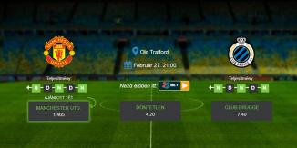 Foci Tippek: Manchester Utd. - Club Brugge 2020. február 27. - Európa Liga