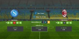 Foci Tippek: Napoli - AC Milan 2020. július 12. - Serie A