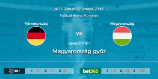Foci Tippek: Németország - Magyarország 2021. június 23. - Euro 2020