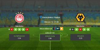 Foci Tippek: Olympiakosz vs Wolverhampton 2020. március 12. - Európa Liga