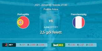 Foci Tippek: Portugália - Franciaország 2021. június 23. - Euro 2020