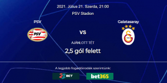 Foci Tippek: PSV Eindhoven - Galatasaray 2021. július 21. - Bajnokok Ligája