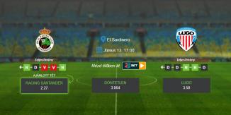 Foci TIppek: Racing Santander - Lugo 2020. június 13. - La Liga 2