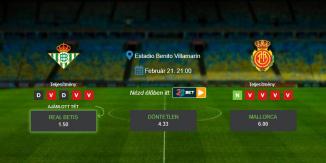 Foci Tippek: Real Betis – Mallorca 2020. február 21. - La Liga