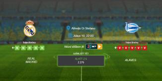 Foci Tippek: Real Madrid - Alaves 2020. július 10. - La Liga
