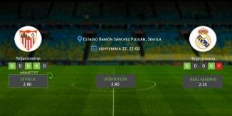 Foci Tippek: Sevilla vs Real Madrid 2019. szeptember 22. - La Liga