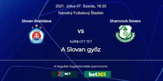 Foci Tippek: Slovan Bratislava - Shamrock Rovers 2021. július 7. - Bajnokok Ligája