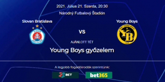 Foci Tippek: Slovan Bratislava - Young Boys 2021. július 21. - Bajnokok Ligája