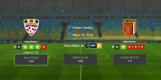 Foci Tippek: Soligorsk – Slavia Mozyr 2020. május 16. - Vysshaya Liga