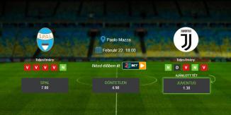Foci Tippek: SPAL – Juventus 2020. február 22. - Serie A