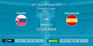 Foci Tippek: Szlovákia - Spanyolország 2021. június 23. - Euro 2020