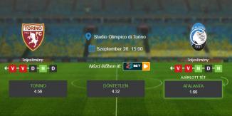 Foci Tippek: Torino - Atalanta 2020. szeptember 26. - Serie A